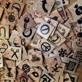 I geroglifici di oggi (creazione Museofarfalla)